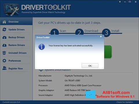 צילום מסך Driver Toolkit Windows 8.1