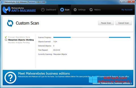 צילום מסך Malwarebytes Anti-Malware Windows 8.1