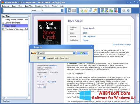 צילום מסך All My Books Windows 8.1