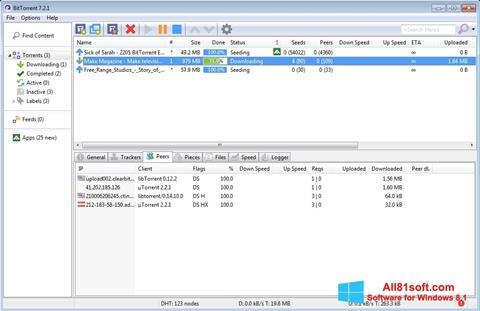 צילום מסך BitTorrent Windows 8.1