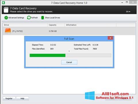 צילום מסך CardRecovery Windows 8.1