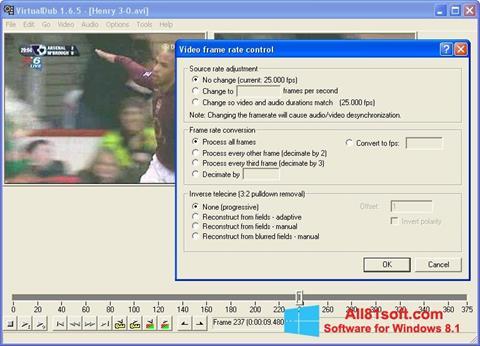 צילום מסך VirtualDubMod Windows 8.1