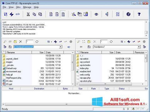 צילום מסך Core FTP Windows 8.1
