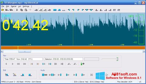 צילום מסך mp3DirectCut Windows 8.1