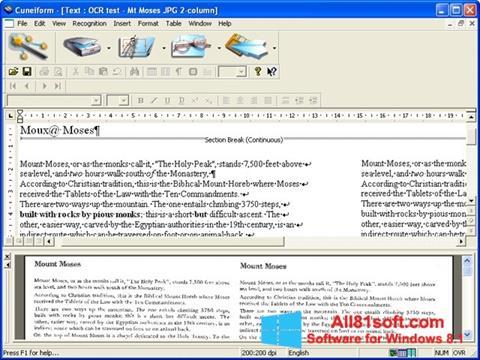 צילום מסך CuneiForm Windows 8.1
