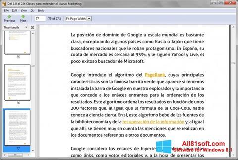 צילום מסך Evince Windows 8.1
