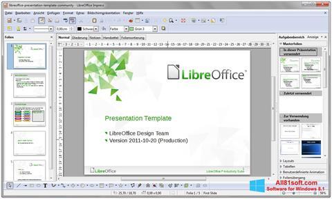 צילום מסך LibreOffice Windows 8.1