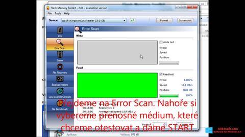 צילום מסך Flash Memory Toolkit Windows 8.1