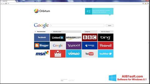צילום מסך Orbitum Windows 8.1