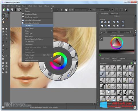 צילום מסך Krita Windows 8.1