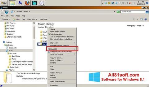 צילום מסך MagicISO Windows 8.1
