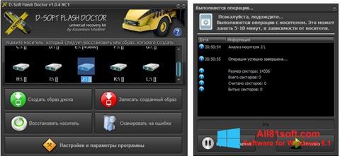 צילום מסך D-Soft Flash Doctor Windows 8.1