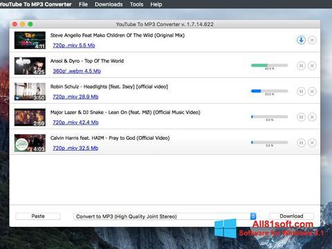 צילום מסך Free YouTube to MP3 Converter Windows 8.1