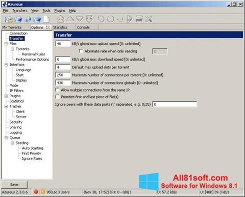 צילום מסך Vuze Windows 8.1