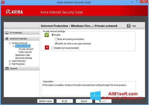 צילום מסך Avira Internet Security Windows 8.1