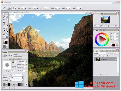 צילום מסך Artweaver Windows 8.1