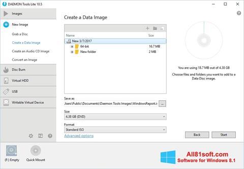 צילום מסך DAEMON Tools Lite Windows 8.1