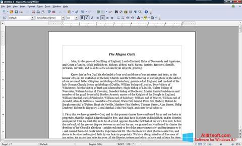 צילום מסך OpenOffice Windows 8.1
