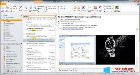 צילום מסך Microsoft Outlook Windows 8.1