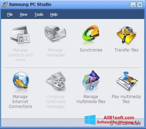 צילום מסך Samsung PC Studio Windows 8.1