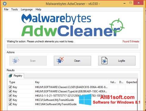צילום מסך AdwCleaner Windows 8.1