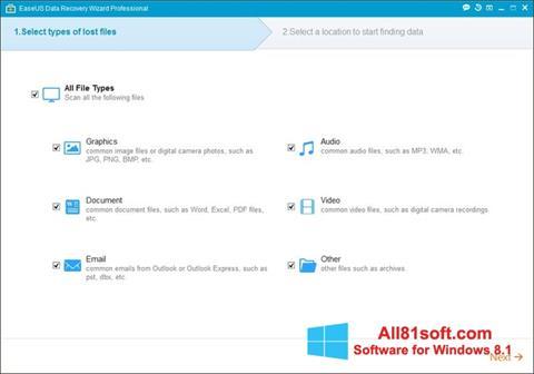 צילום מסך EaseUS Data Recovery Wizard Windows 8.1