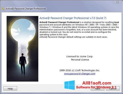 צילום מסך Active Password Changer Windows 8.1