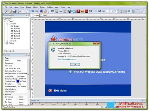 צילום מסך AutoPlay Media Studio Windows 8.1