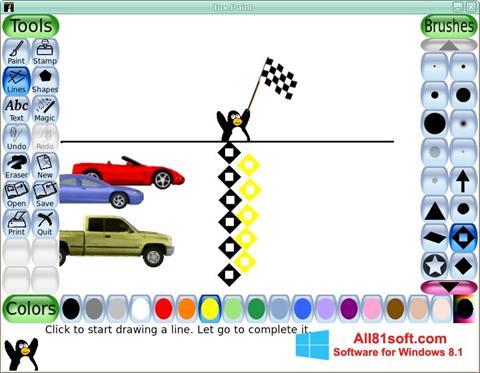 צילום מסך Tux Paint Windows 8.1