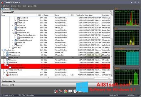 צילום מסך Comodo Cleaning Essentials Windows 8.1