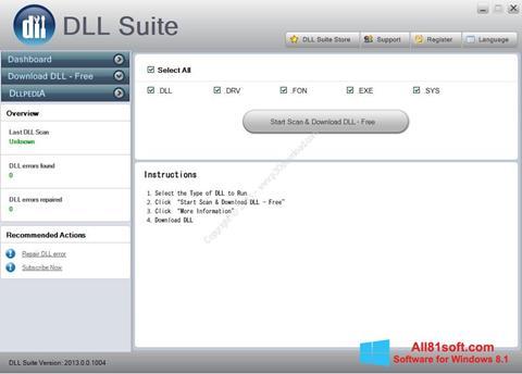 צילום מסך DLL Suite Windows 8.1