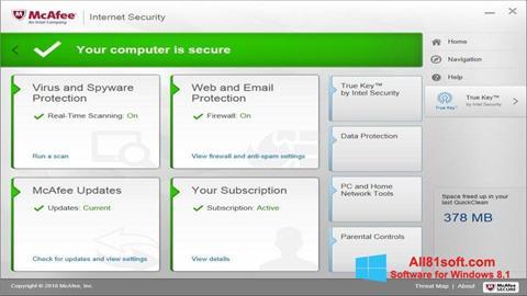 צילום מסך McAfee Windows 8.1