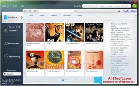 צילום מסך MediaGet Windows 8.1