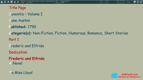 צילום מסך ICE Book Reader Windows 8.1
