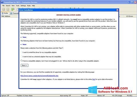 צילום מסך CommView for WiFi Windows 8.1