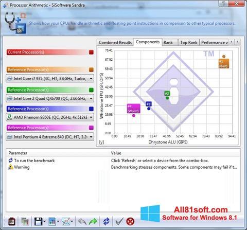 צילום מסך SiSoftware Sandra Windows 8.1