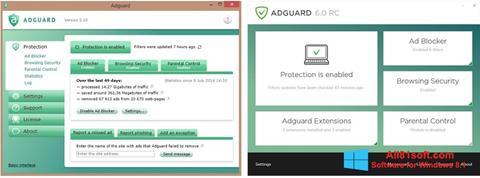 צילום מסך Adguard Windows 8.1