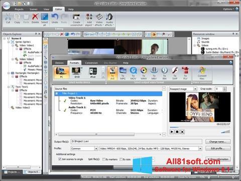 צילום מסך Free Video Editor Windows 8.1