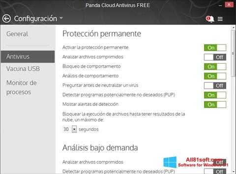 צילום מסך Panda Cloud Windows 8.1