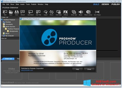 צילום מסך ProShow Producer Windows 8.1