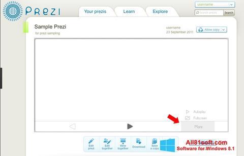 צילום מסך Prezi Windows 8.1