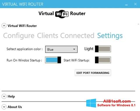 צילום מסך Virtual WiFi Router Windows 8.1