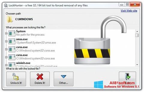 צילום מסך LockHunter Windows 8.1