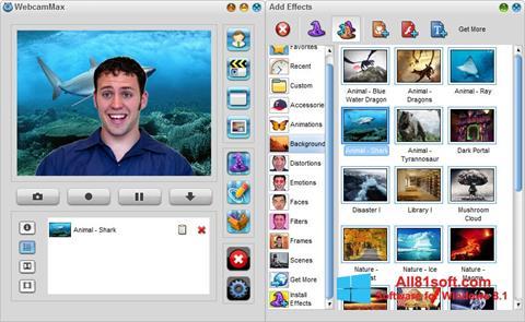 צילום מסך WebcamMax Windows 8.1
