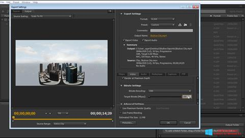 צילום מסך Adobe Media Encoder Windows 8.1