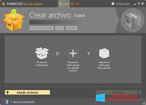 צילום מסך Hamster Free ZIP Archiver Windows 8.1