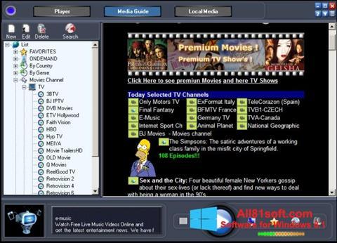 צילום מסך Online TV Live Windows 8.1