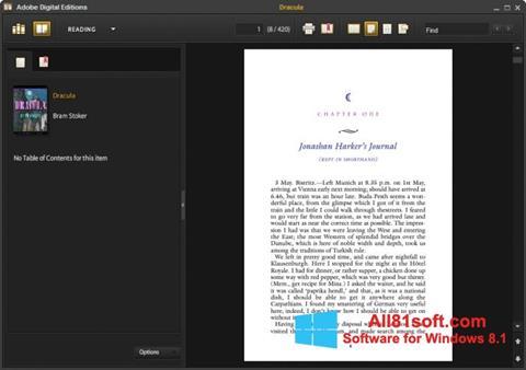 צילום מסך Adobe Digital Editions Windows 8.1
