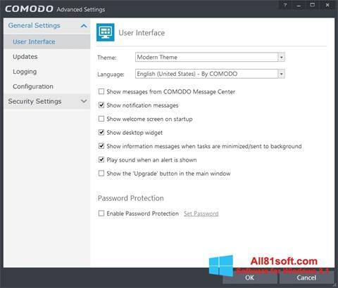 צילום מסך Comodo Internet Security Windows 8.1