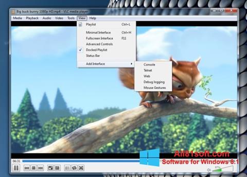צילום מסך VLC Media Player Windows 8.1